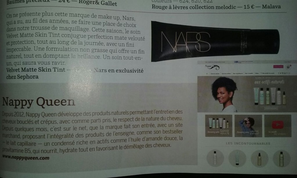 Nappy Queen dans le NewAfricanMagazine