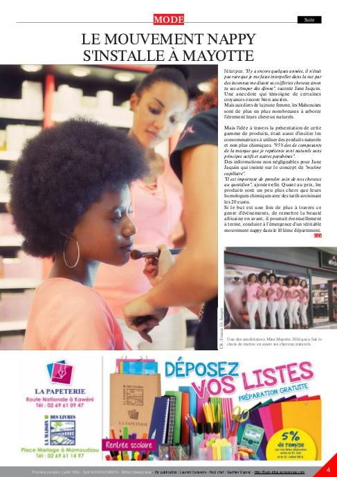 Nappy Queen avec les Miss Mayotte en route pour Miss France
