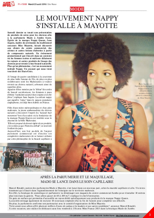 Le mouvement Nappy s'installe aussi dans l'île de Mayotte