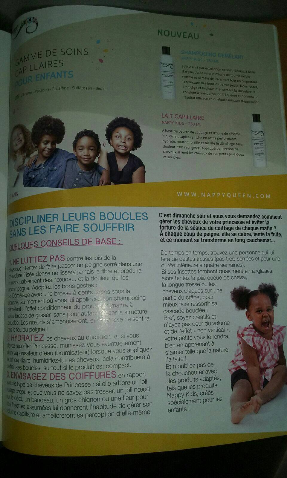 Nappy Kids à l'honneur dans le magazine Black Beauty Mag