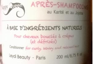 Revue Nappy Queen, l'après-shampoing