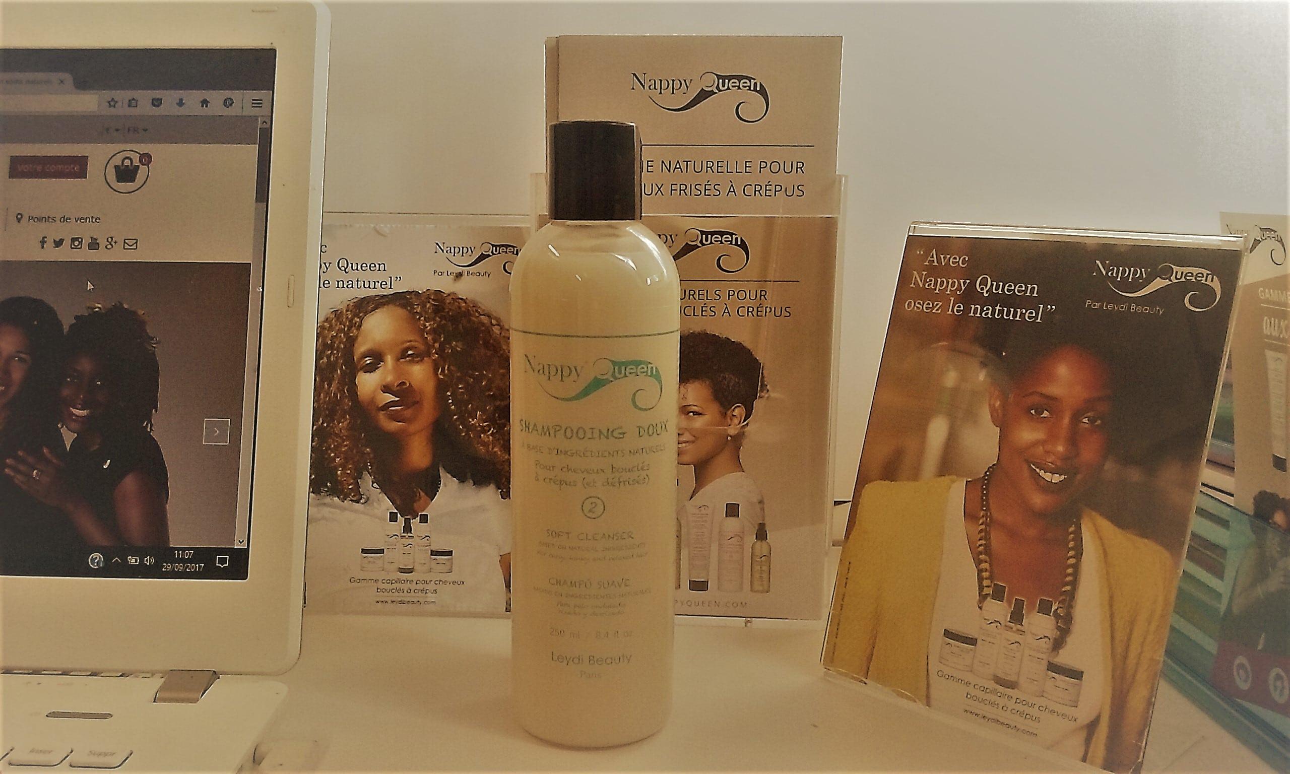 Un shampooing doux revisité pour la gamme Nappy Queen.
